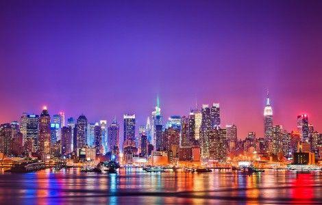 New York City Night Lights | WALLPICS4K