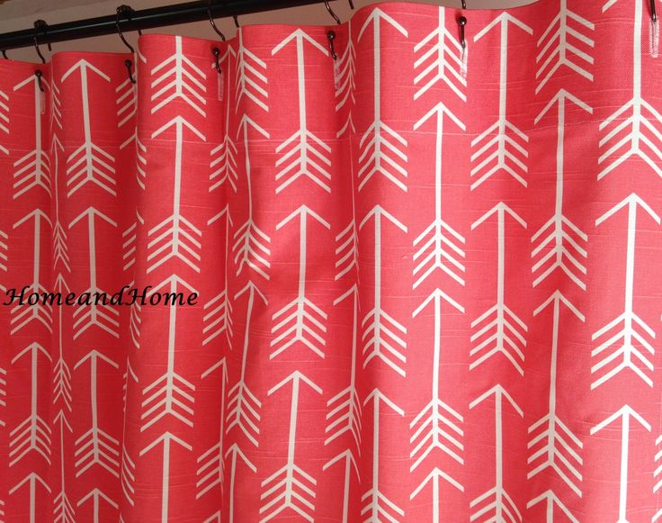 Salmon And Gray Shower Curtain
