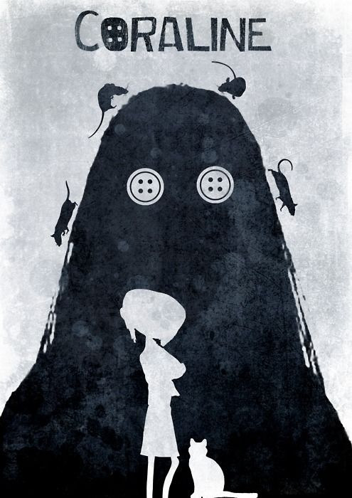 Coraline. Probably the creepiest movie I saw when I was younger..