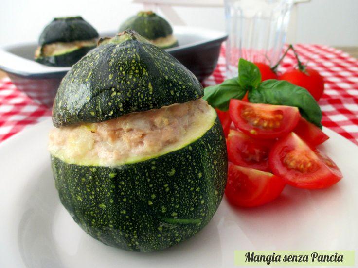 Zucchine tonde ripiene con tonno