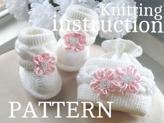 P A T T E R N Knitting Baby Set Baby Shoes Knitted von Solnishko43