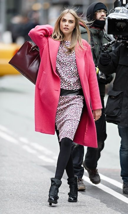Sneak a Peek At DKNY's Super Cool Fall Campaign (Love This Pink Leopard Print!)
