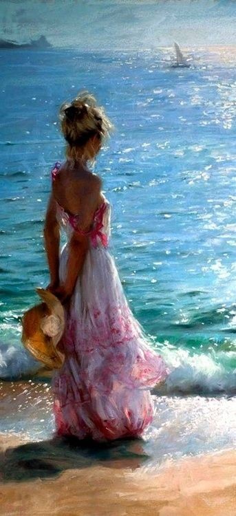 "Vicente Romero Redondo: Mediterranean Reflections. Oil on canvas. ""Exquisite use of light here!"""