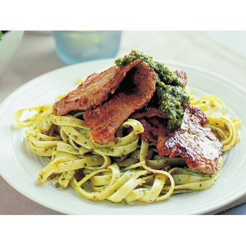 Veal escalopes with rocket and pistachio pesto recipe - By Australian Women's Weekly