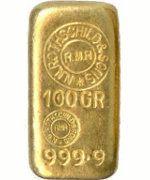 Rothschild Goldbarren 100 Gramm