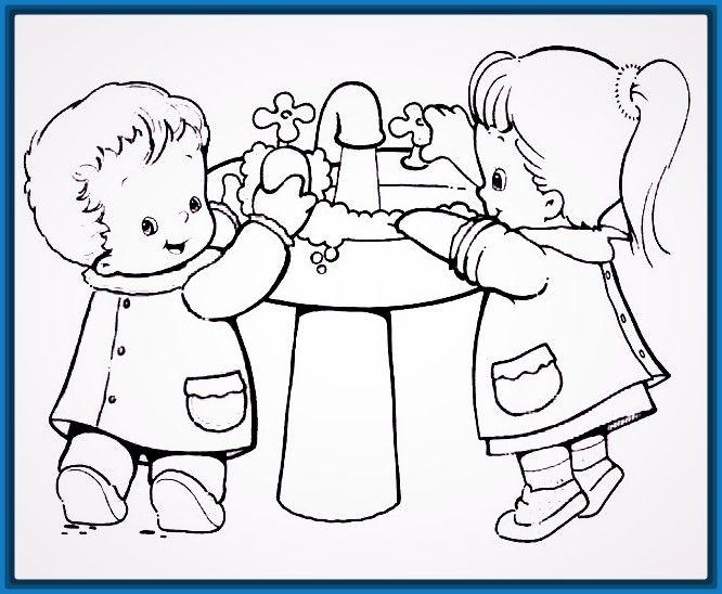 Imagenes de aseo personal para niños para colorear | Para niños ...
