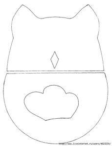 Cómo hacer un almohadón con forma de búho 2