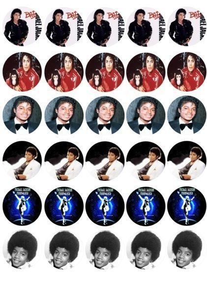 30 X Michael Jackson Jacko Misto Imagens Comestível Cupcake Toppers 134 | Casa e jardim, Cozinha, copa e bar, Acessórios para confeitaria e decoração de bolos | eBay!