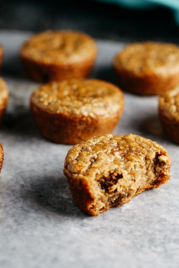 healthy almond flower banana muffins