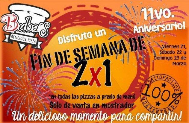 Super promo 2×1 en la mejor pizza de San Luis Potosí