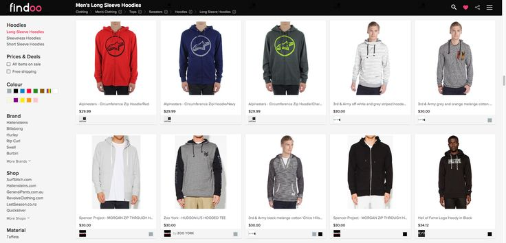 Biggest choice of hoodies for men to best prices on https://www.findoo.com.au/clothing/men/tops/sweaters/hoodies/