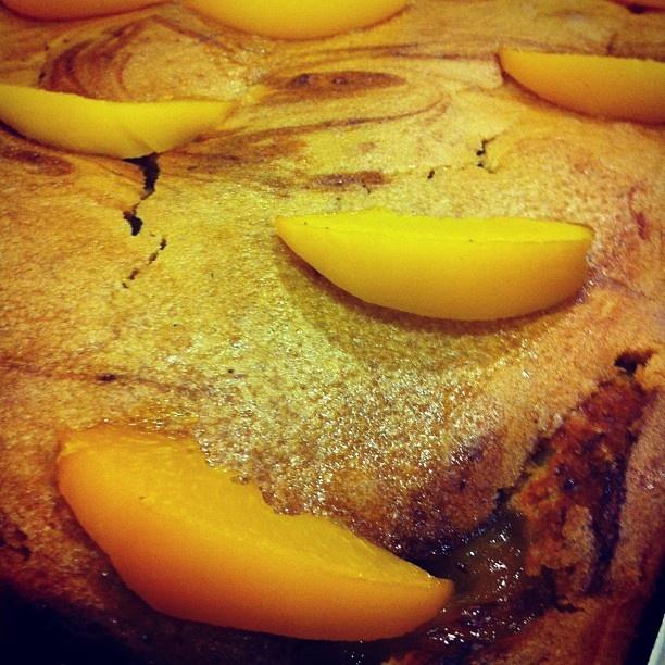 Vegan peach pie!