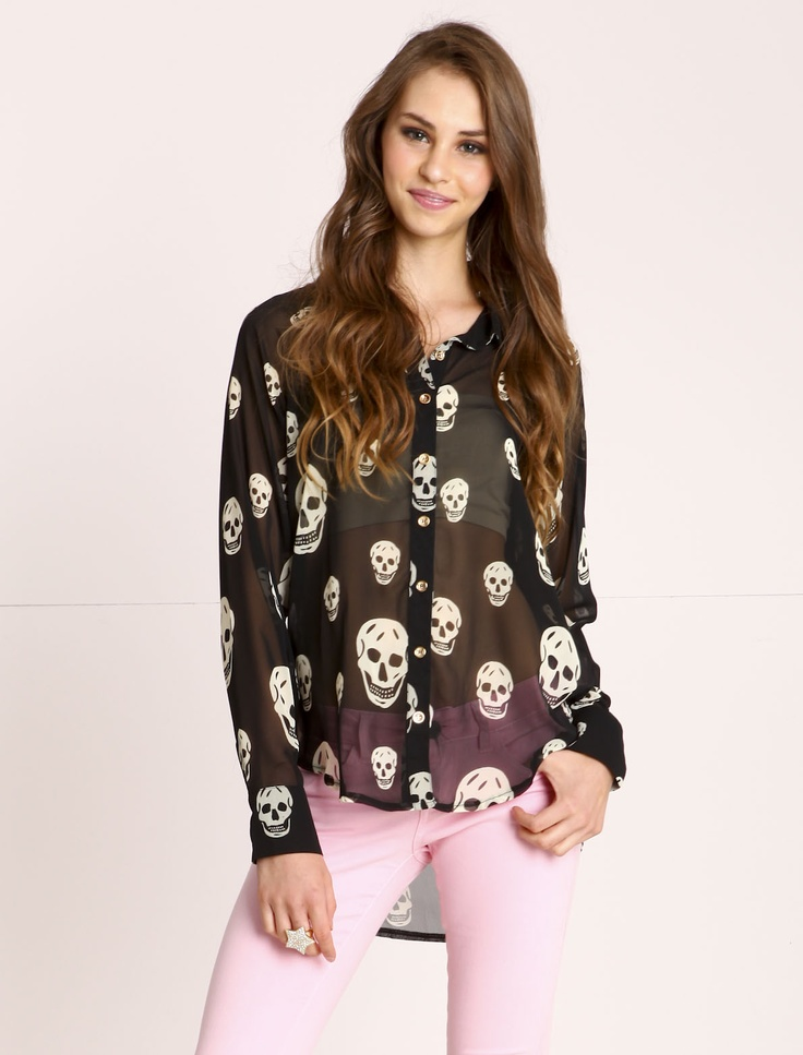 skull blouse (love culture)