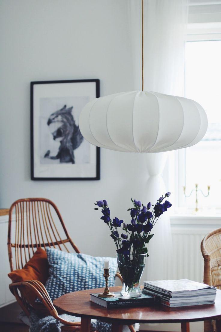 Taklampa ECO off white 60 cm via Lampverket unika lampor