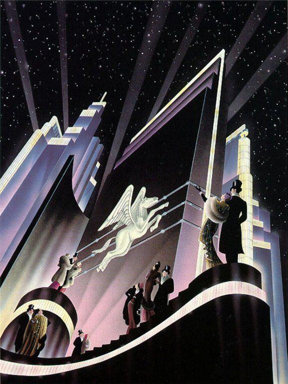 "Robert Hoppe: ""Pegasus"". A lovely contemporary interpretation of classic Art Deco themes."