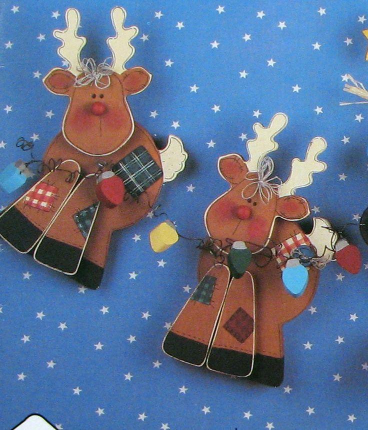 Wood+Craft+Patterns | Christmas Wood Craft Pattern Reindeer by SouthcastleVintage