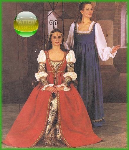 Renaissance Faire Wedding Dress Gown Costume History Mccalls: 235 Best Ladies Medieval Renaissance Costume Patterns