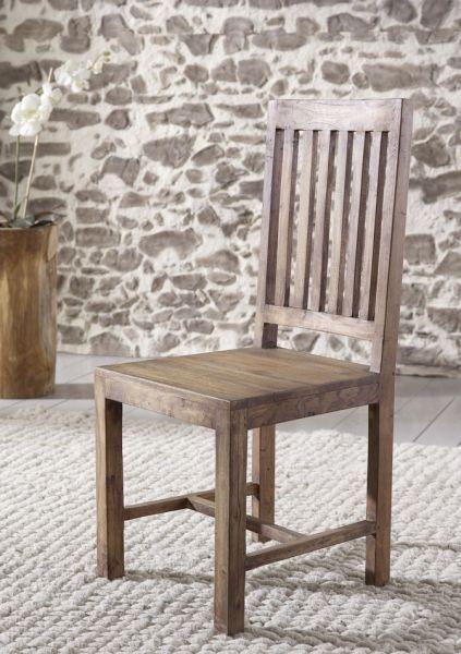Wolf Möbel Guru Drewniane Krzesło Drewno Akacjowe Stone - 6611 Wyposażenie Meble Meble do jadalni Krzesła do jadalni