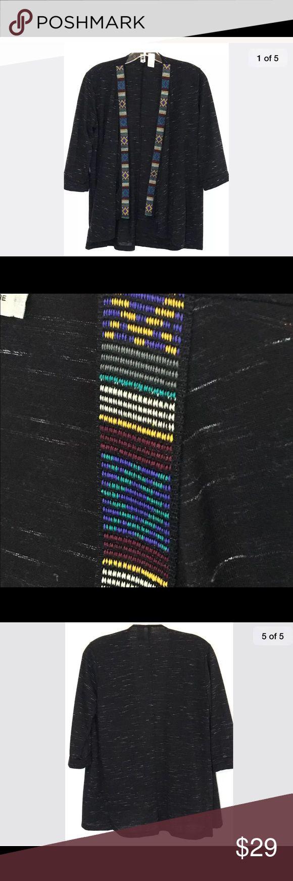"BKE Aztec Shawl Cardigan Tribal Southwestern XS BKE Aztec Shawl Cardigan Tribal Southwestern 3/4 Sleeves Open Drape Womens XS  Pit to Pit: 18"" Length: 27"" BKE Sweaters Cardigans"
