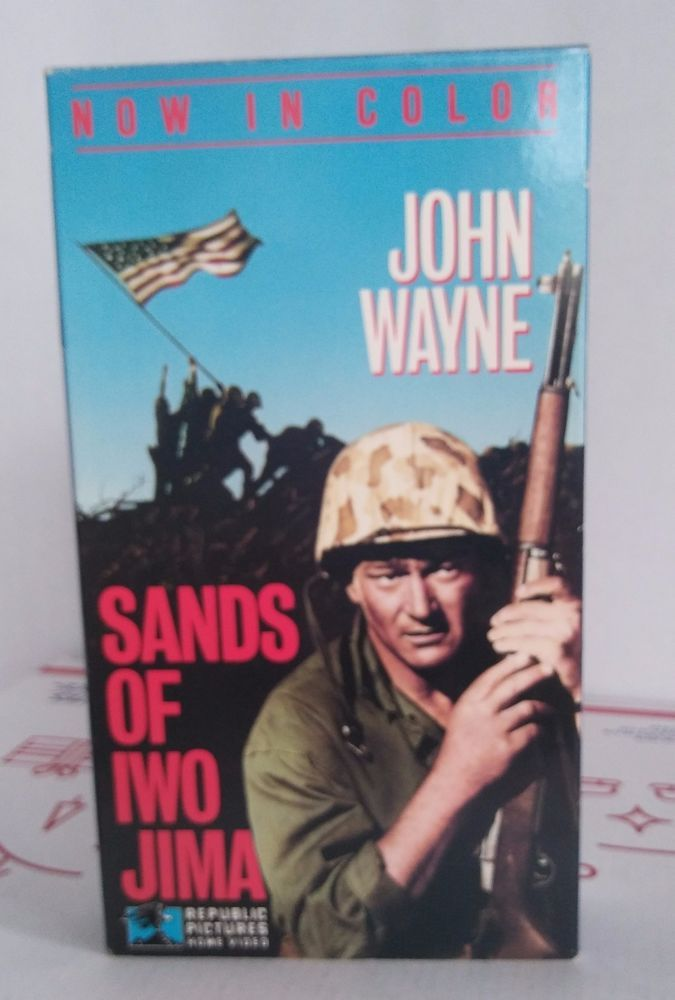 Sands of Iwo Jima John Wayne VHS 3552 Video Tape In Color Home Video Classic