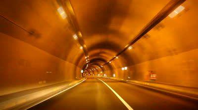 nice colors Nice circular motif on tunnel.