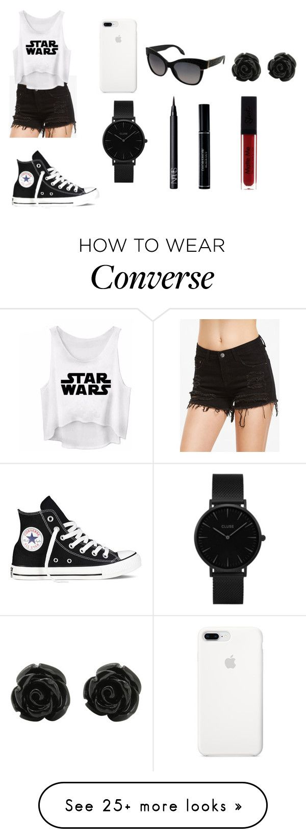 """""""For Star War Fans"""" by aakankshagarg on Polyvore featuring Converse, Roberto Cavalli, CLUSE, NARS Cosmetics and Christian Dior"""