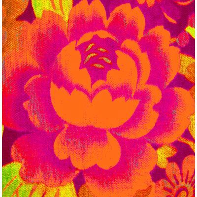 Antique Fragment Pink & Orange Rose  by Anna Chandler