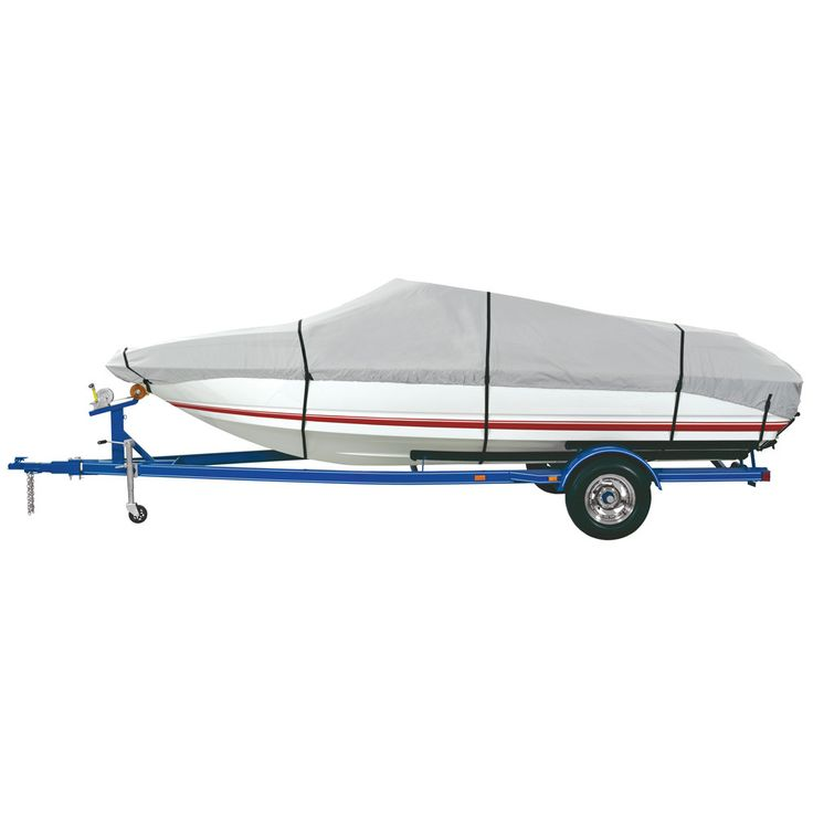 """Dallas Manufacturing Co. Heavy Duty Polyester Boat Cover B - 14-16' V-Hull, Runabouts, Aluminum Bass Boats - Beam to 90"""""""