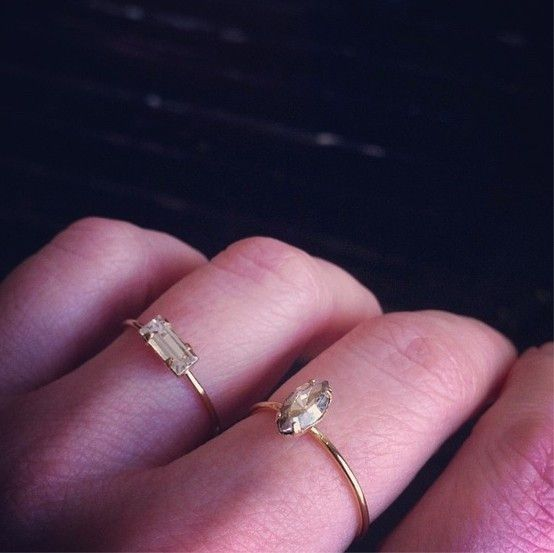 Tiny Baguette Ring