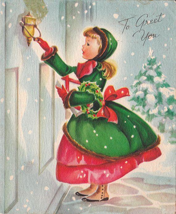 Vintage 1950s To Greet You Christmas Wishes by poshtottydesignz