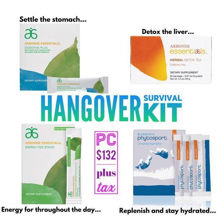 Hangover Kit in 2020 Arbonne detox, Arbonne marketing