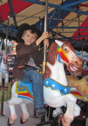 Weather or Not...Ride 'em Cowboy at the 200th Williamstown Fair.