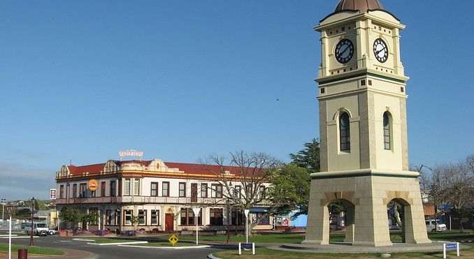 Image courtesy of Destination Manawatu  Feilding Hotel & Clock tower ☺ My birthplace