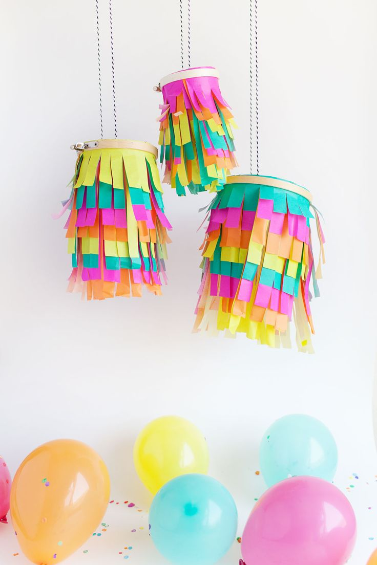 Make a colorful tissue paper lantern for a a fun outdoor bbq or colorful birthday party. They are simple and you only need a couple supplies.