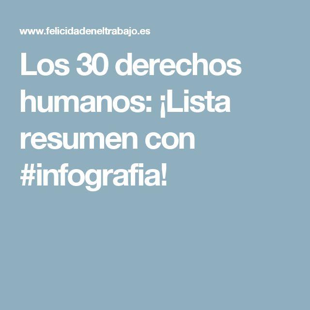 Los 30 derechos humanos: ¡Lista resumen con #infografia!