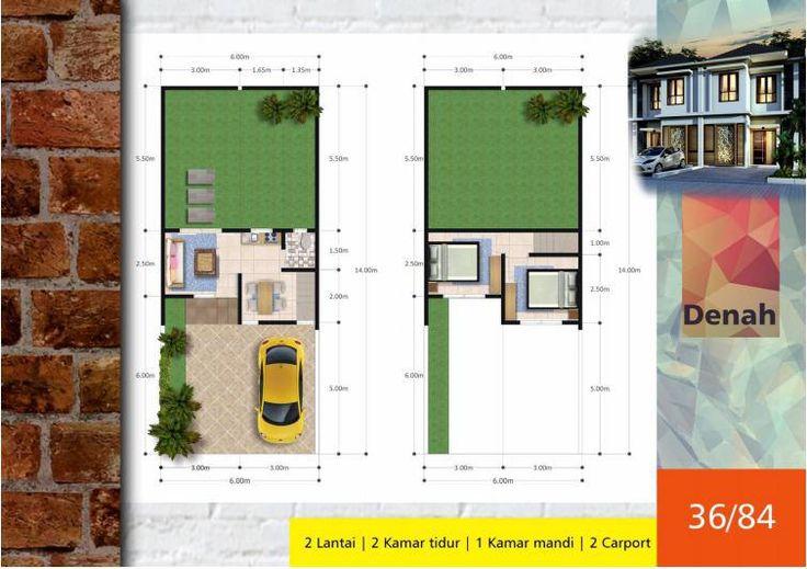 #Algira #Townhouse 1 #Kota #Bogor #Desain #Denah Type 36/84 #rumahdijual #rumahmewah #property #propertysyariah #realestate bit.ly/ATH123