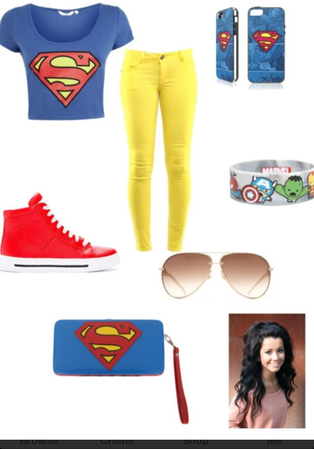 Cute Superman outfit | polyvore | theloveoffashion
