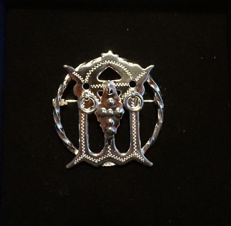 Sami silver brooch from Jokkmokk, Sweden.