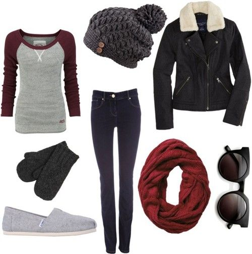 Winter Outfit. Replace those TOMS with Vans and we're good