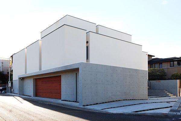 ガレージハウス 混構造の家 中庭のある家 デザイナーズハウス・注文建築・自由設計・建築家 アーキッシュギャラリー(東京・名古屋・大阪)Achish&Gallery