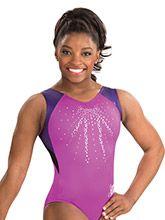 Simone Biles Magenta Sparkle Leotard from GK Gymnastics