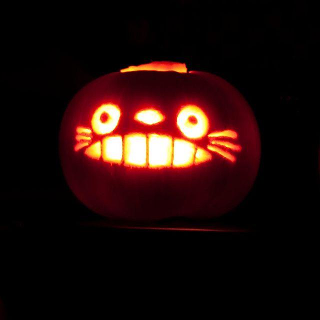 totoro pumpkin | Flickr - Photo Sharing! Cat Bus!!!