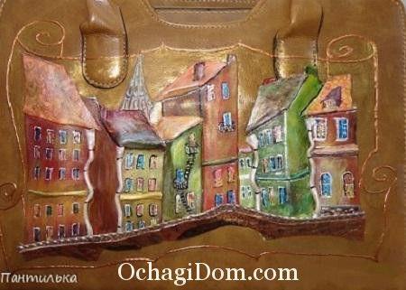 Картины из кожи Людмилы Каримовой