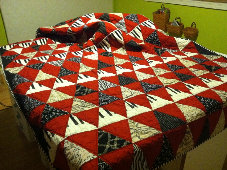 Peter's Survivor Quilt made from the same fabrics used in the quilt that I made for his fundraiser.