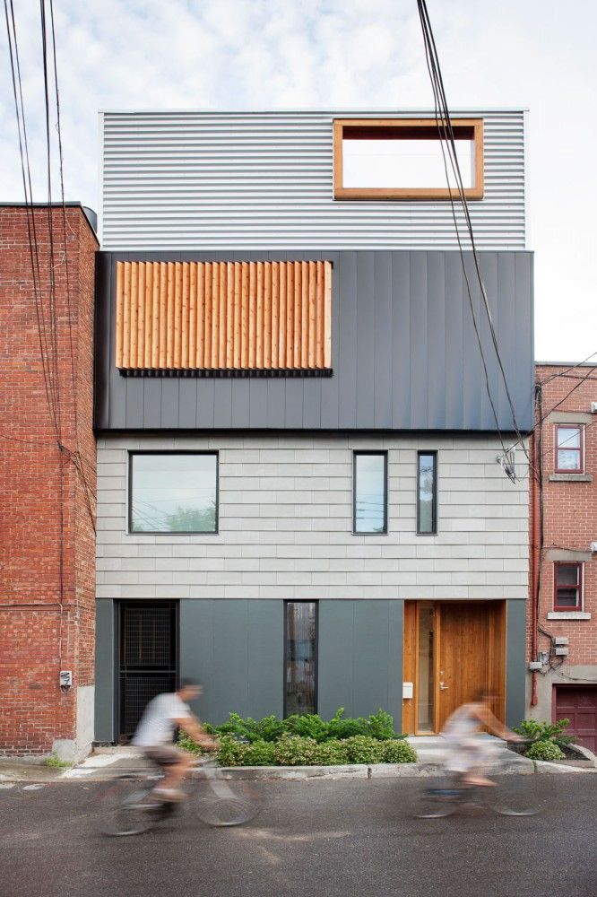 Stacked house montreal shipping containers and house for Minimalist house quebec