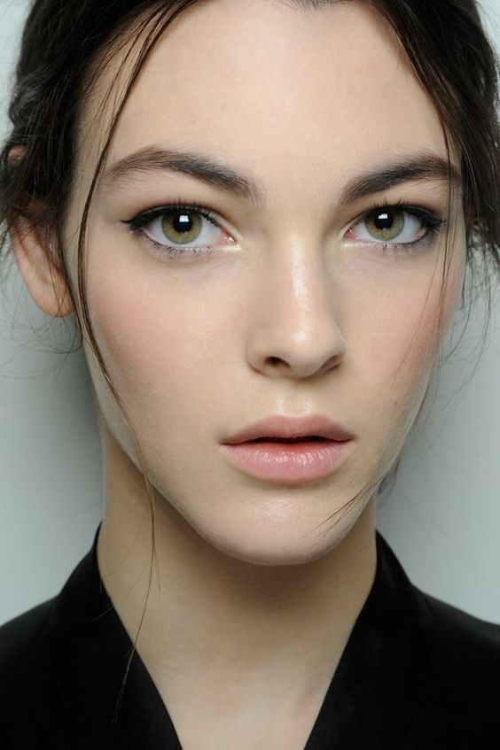Really pretty natural everyday makeup look. Use a multi-use product for lips and cheeks. Try RMS Lip2Cheek in Demure
