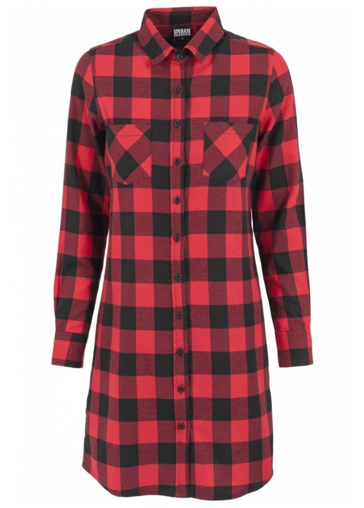 Urban Classics Checked Flannel Shirt Dress | Attitude Clothing