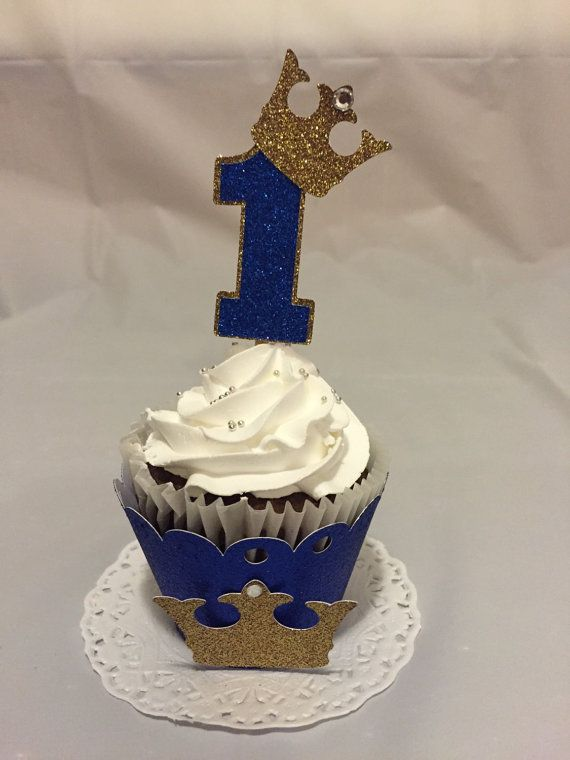 Prince Cupcake Toppers In 2019 1st Birthday Prince
