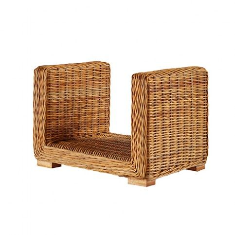 THE WELL APPOINTED HOUSE - Luxury Home Decor- Woven Rattan Square Log Holder from www.wellappointedhouse.com  #homedecor #interiordesign #logholder #fireplace