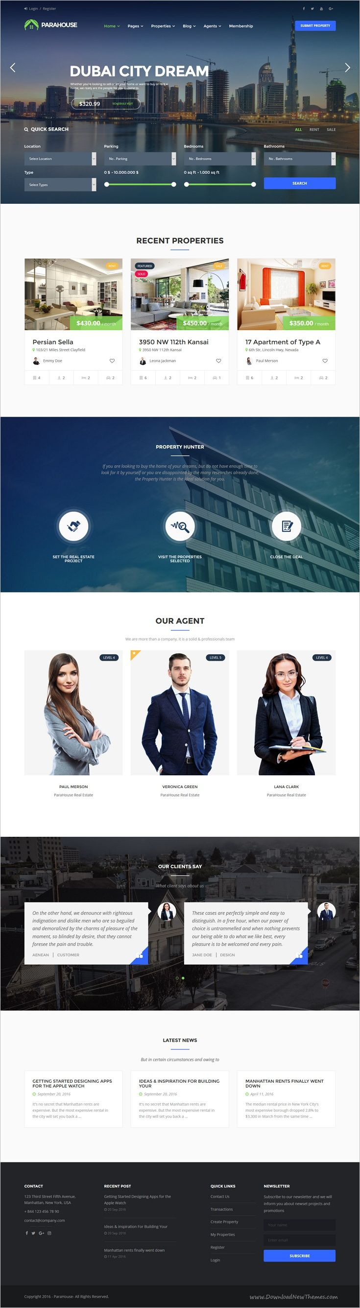 Parahouse is a wonderful responsive #WordPress theme for building up modern #realestate, #Property Agents, Rent Villa, Apartment websites download now➩ https://themeforest.net/item/parahouse-modern-real-estate-wordpress-theme/18150539?ref=Datasata